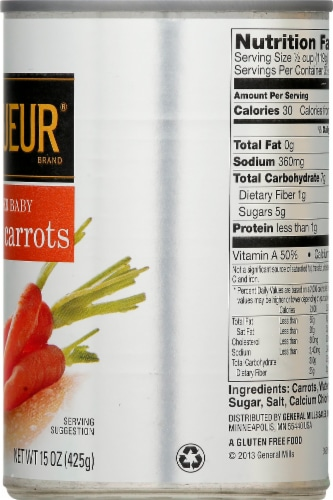 Le Sueur Tender Baby Whole Carrots Perspective: left
