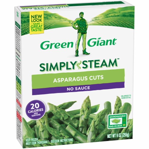 Green Giant Steamers Asparagus Cuts Perspective: left