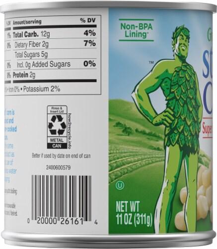 Green Giant Steam Crisp Super Sweet White Kernel Corn Perspective: left