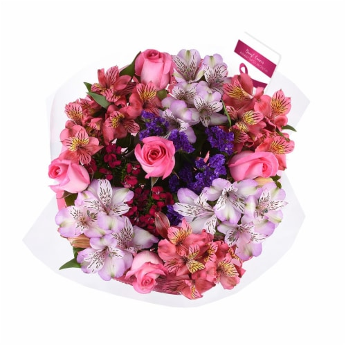 Breast Cancer Awareness Bouquet Perspective: left