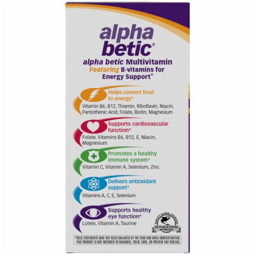 NatureWorks Alpha Betic Multi Vitamin Tablets Perspective: left