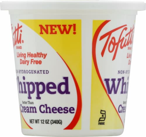 Tofutti Non-Hydrogenated Whipped Dairy Free Cream Cheese Perspective: left