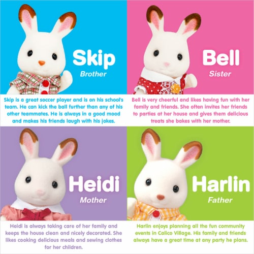 Calico Critters Hopscotch Rabbit Family Perspective: left