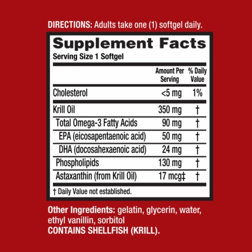 Schiff MegaRed Superior Omega-3 Krill Oil Softgels 350mg Perspective: left