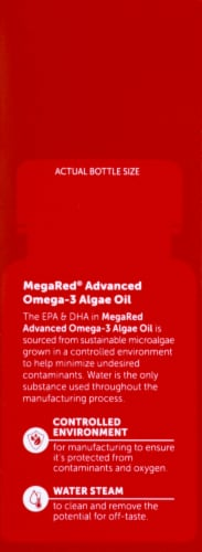 Schiff MegaRed Omega-3 Algae Oil Dietary Supplement Softgels 50 Count Perspective: left