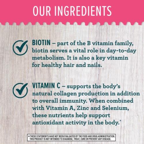 Schiff Biotin + Vitamin C Hair Skin & Nails Support Capsules Perspective: left
