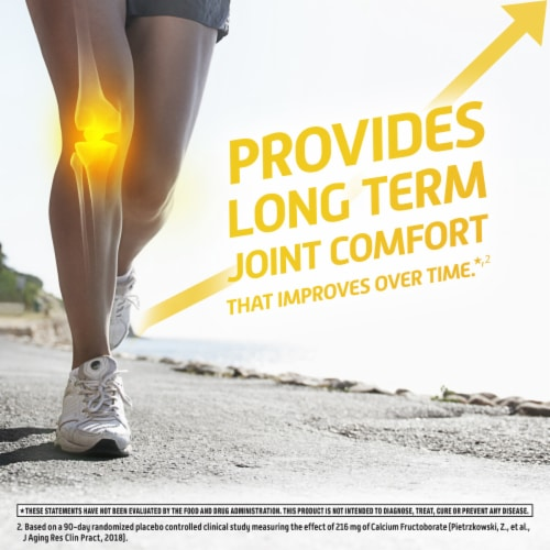 Move Free Ultra Faster Comfort Joint Health Supplement with Calcium Fructoborate Tablets Perspective: left