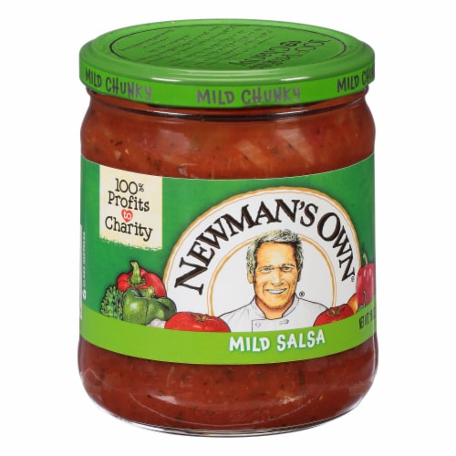 Newman's Own Mild Chunky Salsa Perspective: left