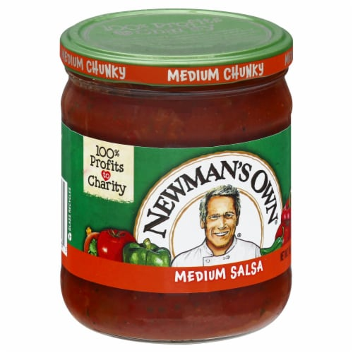 Newman's Own Medium Chunky Salsa Perspective: left