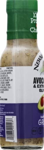 Newman's Own Dairy-Free Avocado Oil & Extra Virgin Olive Oil Greek Dressing Perspective: left