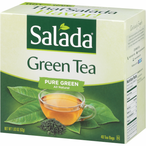 Salada Pure Green Tea Bags Perspective: left