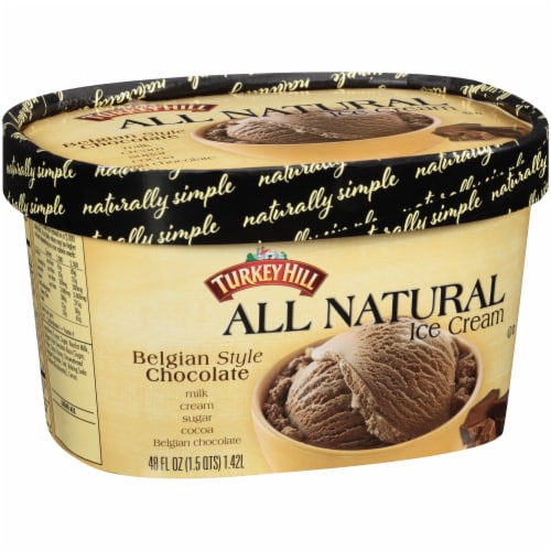 Turkey Hill® All Natural Belgian Style Chocolate Ice Cream Perspective: left