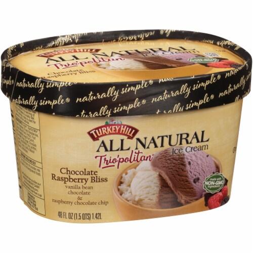 Turkey Hill® Trio'politan All Natural Chocolate Raspberry Bliss Ice Cream Perspective: left