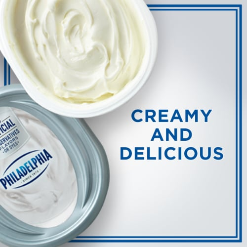 Philadelphia Original Cream Cheese Spread Tub Perspective: left