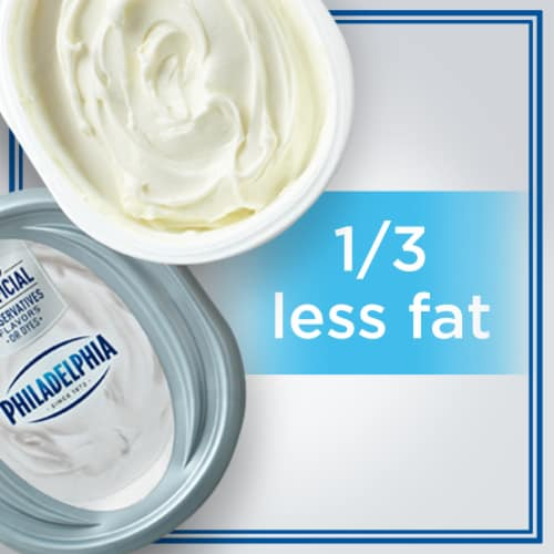 Philadelphia Plain 1/3 Less Fat Cream Cheese Perspective: left