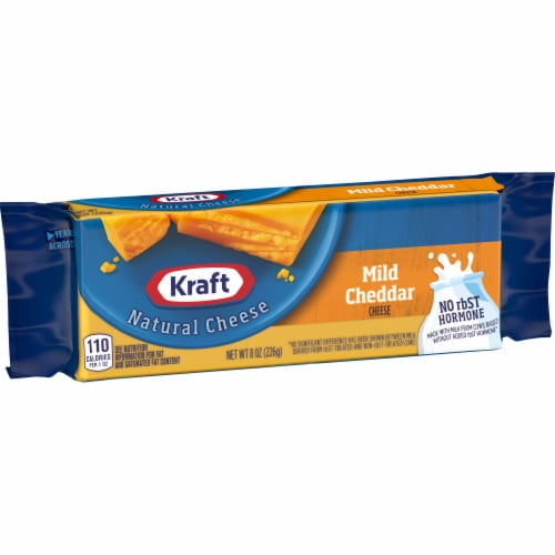 Kraft Mild Cheddar Natural Cheese Block Perspective: left