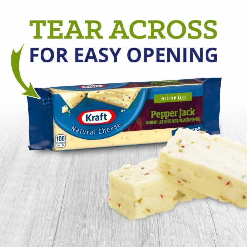 Kraft Pepper Jack Cheese Block Perspective: left