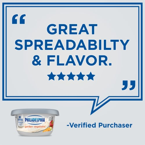 Philadelphia Garden Vegetable Cream Cheese Perspective: left