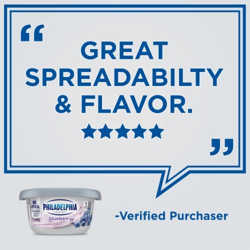 Philadelphia Blueberry Cream Cheese Spread Perspective: left