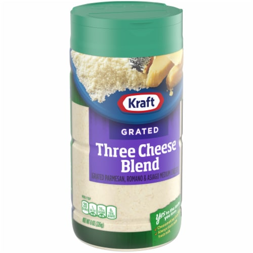 Kraft Grated Three Cheese Blend Perspective: left