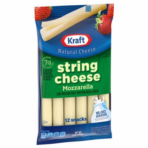 Kraft Mozzarella String Cheese Sticks Perspective: left