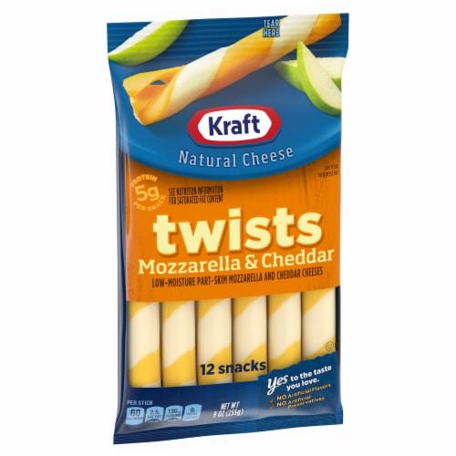 Kraft Twists Mozzarella & Cheddar String Cheese Sticks Perspective: left