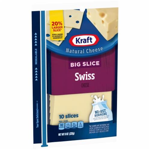 Kraft Big Slice Swiss Cheese Slices Perspective: left