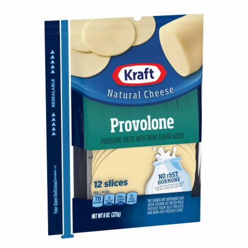 Kraft Provolone Cheese Sliced Cheese Perspective: left