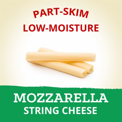 Kraft Reduced Fat Mozzarella String Cheese Sticks 12 Count Perspective: left