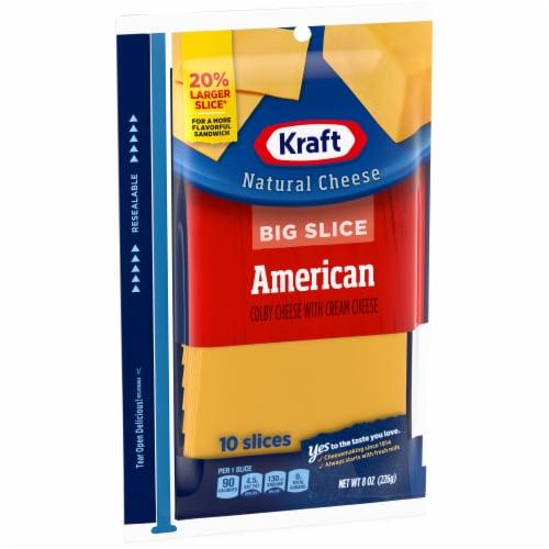 Kraft Big Slice American Cheese Perspective: left