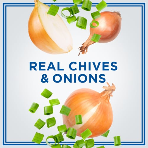 Philadelphia Chive & Onion Cream Cheese Spread Perspective: left