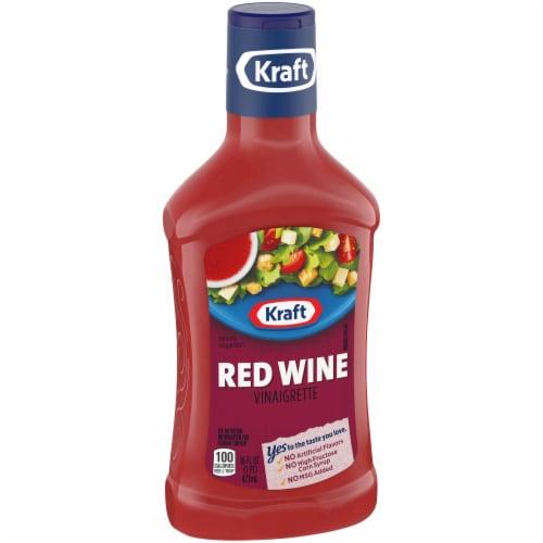 Kraft Red Wine Vinaigrette Dressing Perspective: left