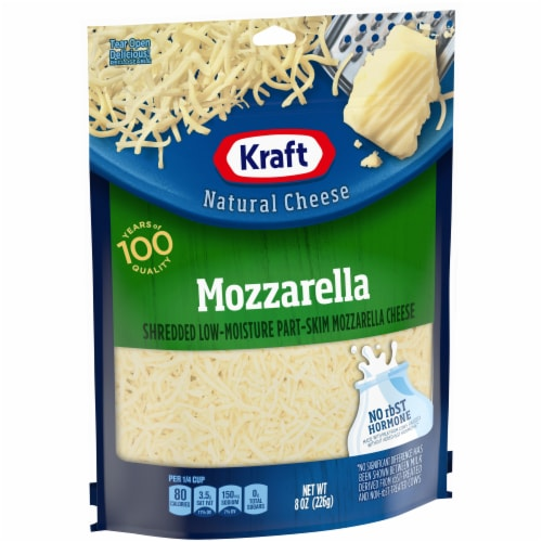 Kraft Shredded Mozzarella Natural Cheese Perspective: left