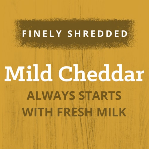 Kraft Mild Cheddar Finely Shredded Natural Cheese Perspective: left