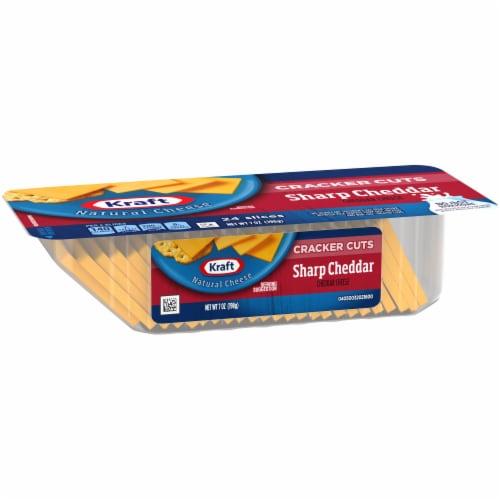 Kraft Sharp Cheddar Cheese Cracker Cuts Perspective: left