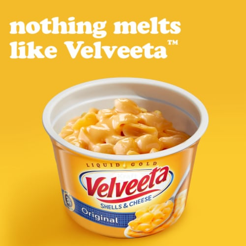 Velveeta Original Flavor Shells & Cheese Cups Perspective: left