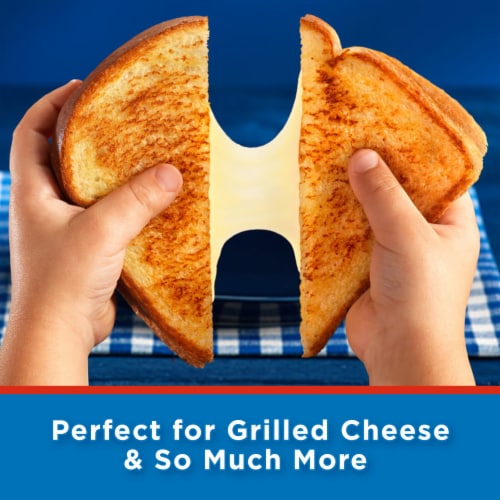 Kraft Singles White American Cheese Slices Perspective: left