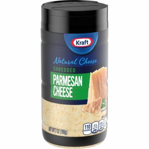 Kraft Shredded Parmesan Cheese Perspective: left