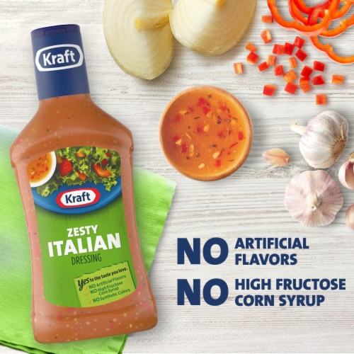 Kraft Zesty Italian Salad Dressing Perspective: left