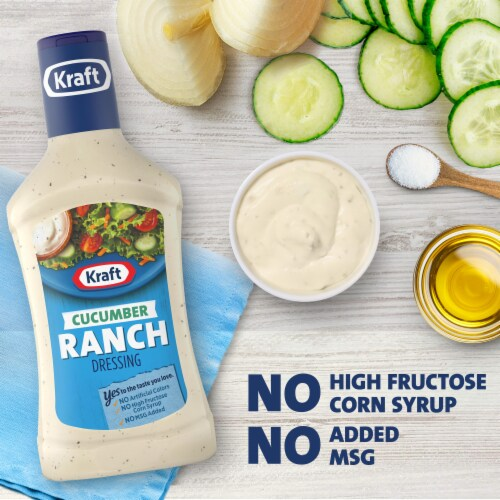 Kraft Cucumber Ranch Dressing Perspective: left