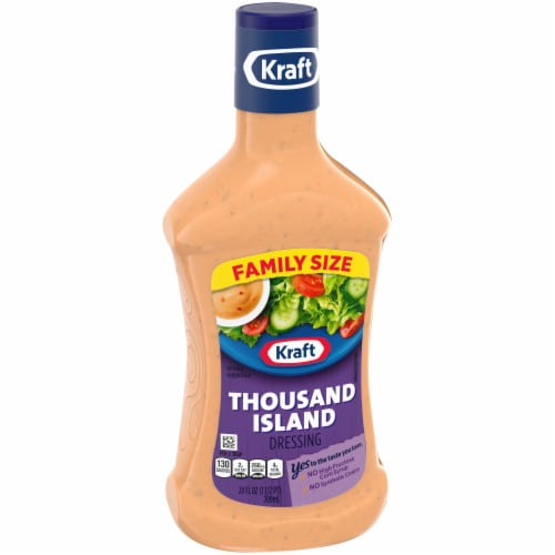 Kraft Thousand Island Dressing Family Size Perspective: left