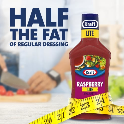 Kraft Lite Raspberry Vinaigrette Dressing Perspective: left