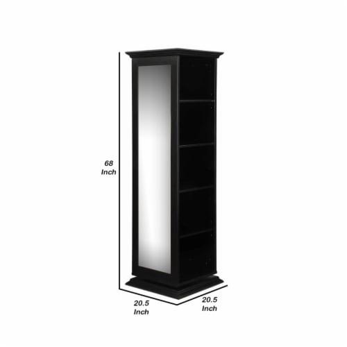 Coaster 5 Shelf Swivel Bookcase in Black Perspective: left