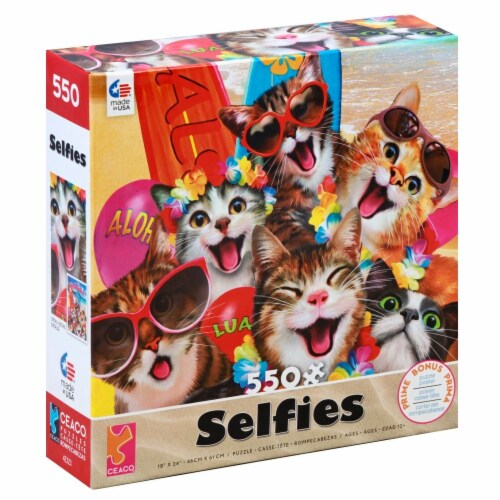 Ceaco Selfies Cat Puzzle Perspective: left