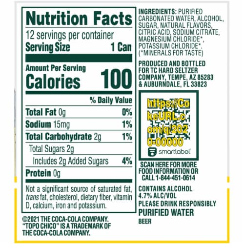 Topo Chico Hard Seltzer Spiked Sparkling Water Variety Pack Perspective: left