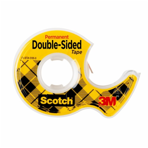 Scotch® Permanent Double Sided Tape - Clear Perspective: left