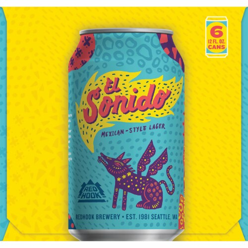 Redhook Brewery El Sonido Mexican-Style Lager Beer Perspective: left
