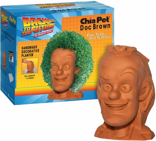 Chia Pet Planter - Back to the Future-  Doc Brown Perspective: left