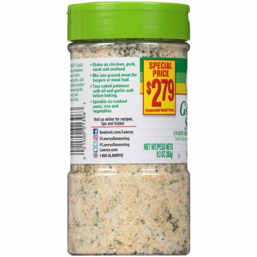 Lawry's Garlic Salt Shaker Perspective: left
