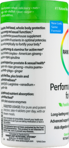 Rainbow Light Performance Energy for Men Tablets Perspective: left